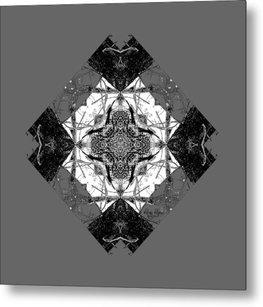 Pattern In Black White Metal Print