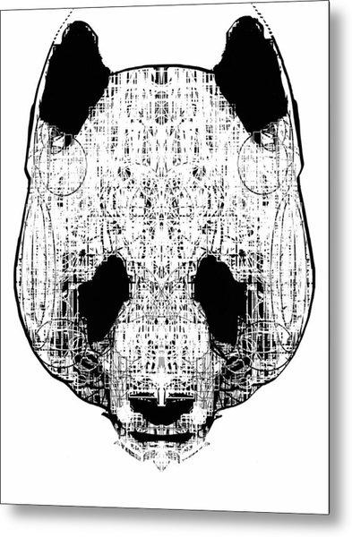 Patterned Panda Metal Print