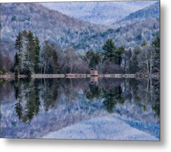 Patterns And Reflections At The Lake Metal Print