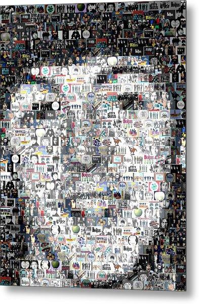 Paul Mccartney Beatles Mosaic Metal Print by Paul Van Scott