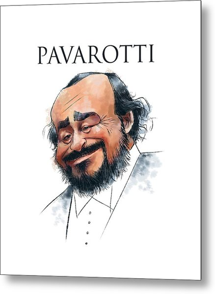Pavarotti Metal Print