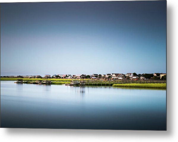 Pawleys Island North Causeway Metal Print