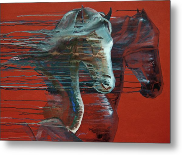 Metal Print featuring the painting Peace And Justice by Jani Freimann