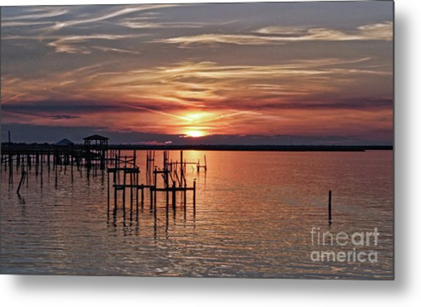 Peace Be With You Sunset Metal Print