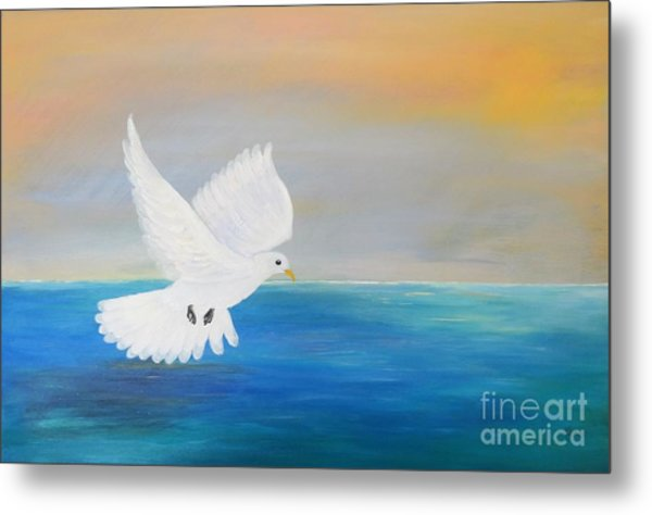 Peace Descending Metal Print