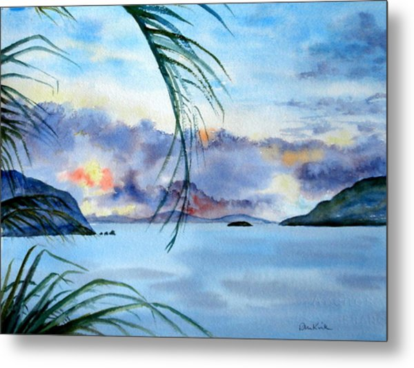 Peace In The Caribbean Metal Print