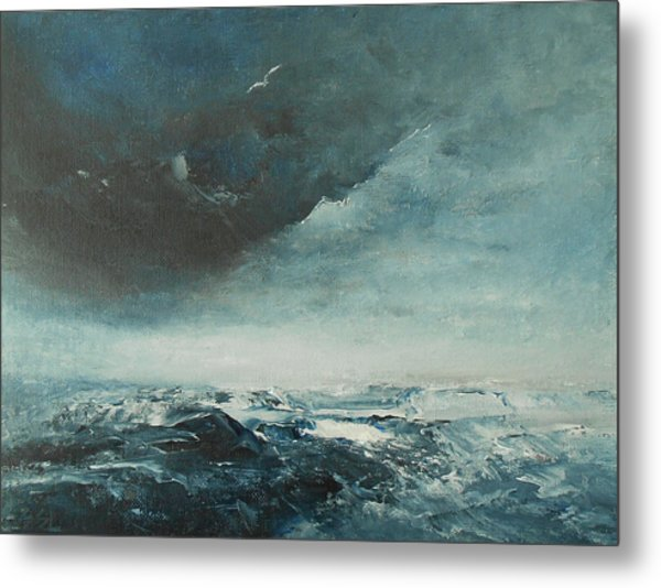 Peace In The Midst Of The Storm Metal Print