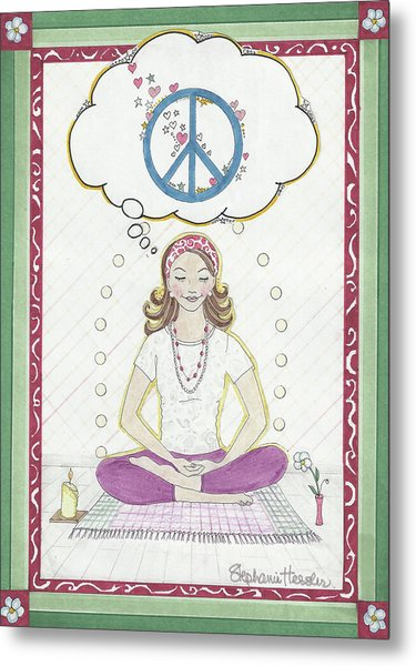 Peace Meditation Metal Print