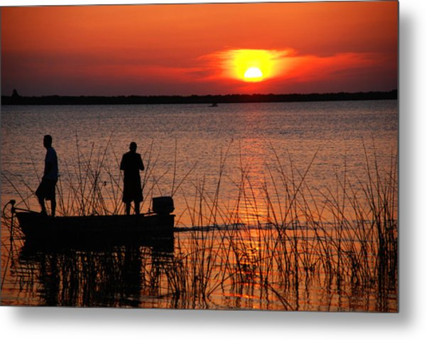 Peace Over The Water Metal Print