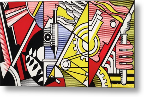 Peace Through Chemistry I - Roy Lichtenstein Metal Print