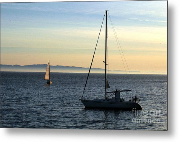 Peaceful Day In Santa Barbara Metal Print