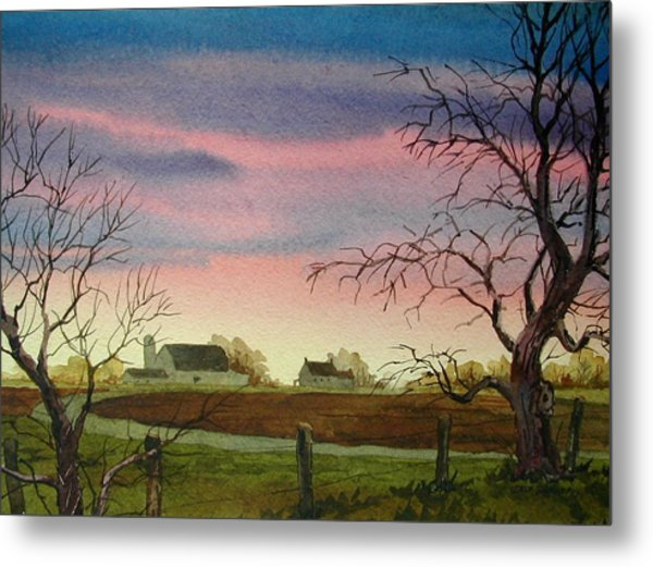 Peaceful Evening Metal Print by Faye Ziegler