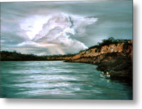 Peaceful Fishing Metal Print