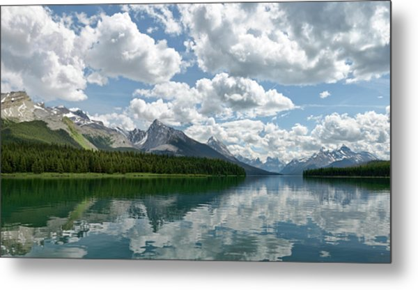 Peaceful Maligne Lake Metal Print