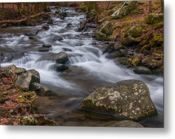Peaceful Mountain Stream Metal Print