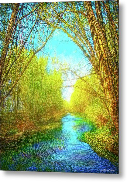Peaceful River Spirit Metal Print