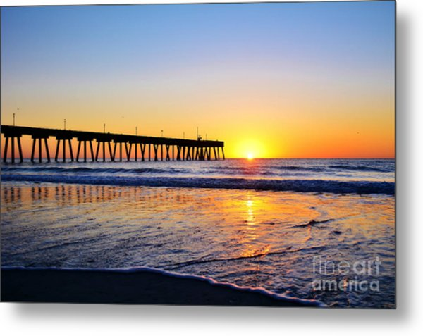 Peaceful Sunrise Metal Print