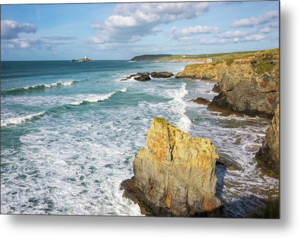 Peaceful Waves Metal Print