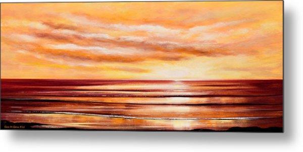 Peacefully Yours - Panoramic Sunset Metal Print