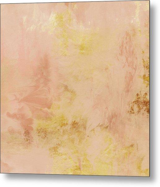 Peach Harvest- Abstract Art By Linda Woods. Metal Print