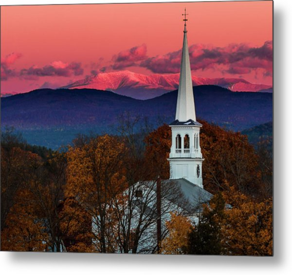 Peacham And White Mtn Sunset Metal Print