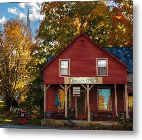 Metal Print featuring the photograph Peacham Vermont General Store by Expressive Landscapes Fine Art Photography by Thom