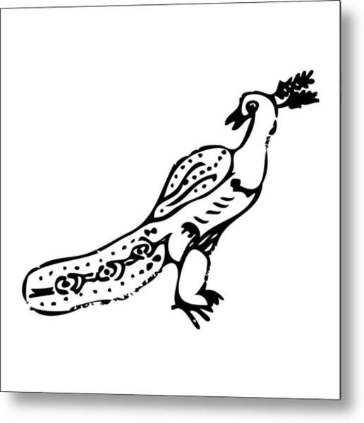 Peacock Bird Metal Print by Karl Addison