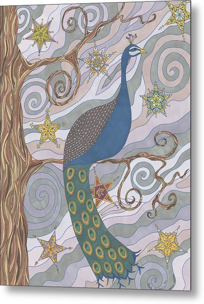 Peacock Dream's Metal Print