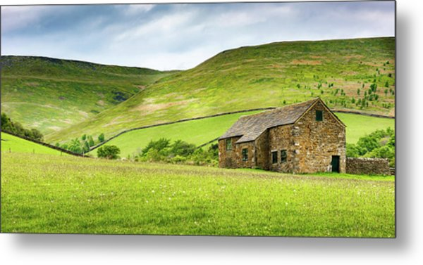 Peak Farm Metal Print