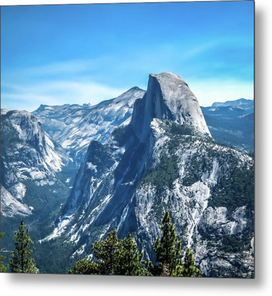 Peak Of Half Dome- Metal Print