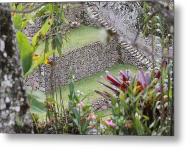Peeking In At Machu Picchu Metal Print