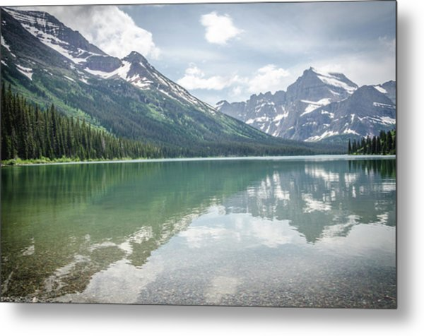 Metal Print featuring the photograph Peaks At Lake Josephine by Margaret Pitcher