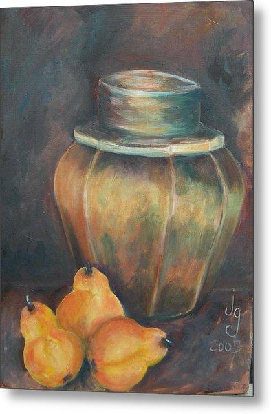 Pear Jar Metal Print by Judie Giglio