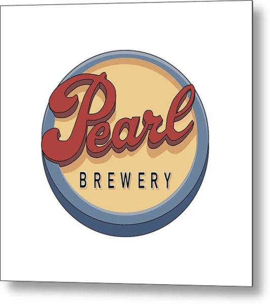 Pearl Brewery Sign Metal Print