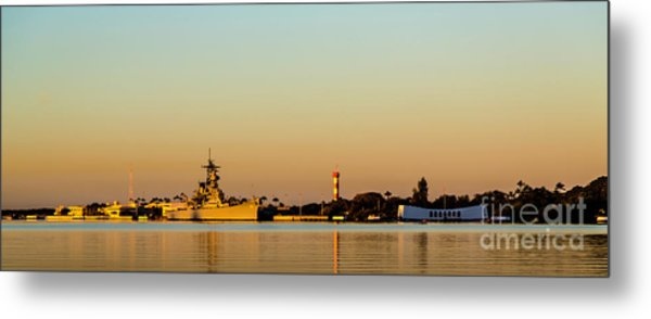 Pearl Harbor Dawn Metal Print