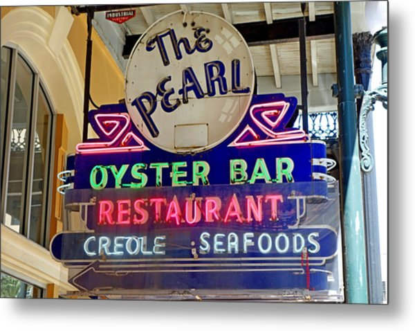 Pearl Oyster Bar Metal Print