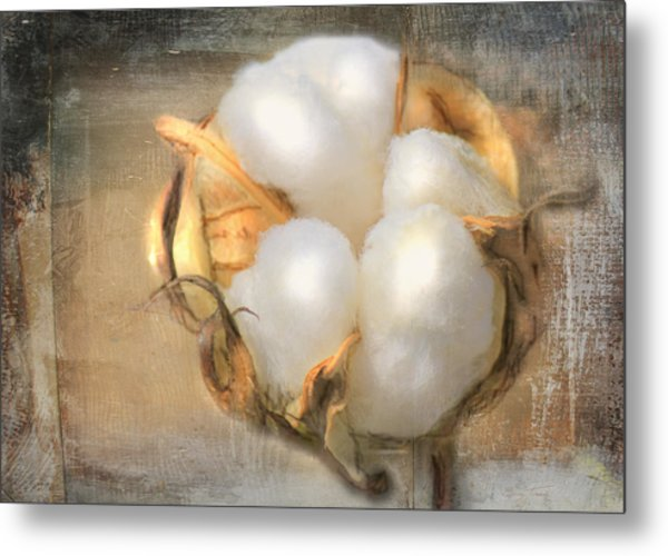 Pearly White Metal Print