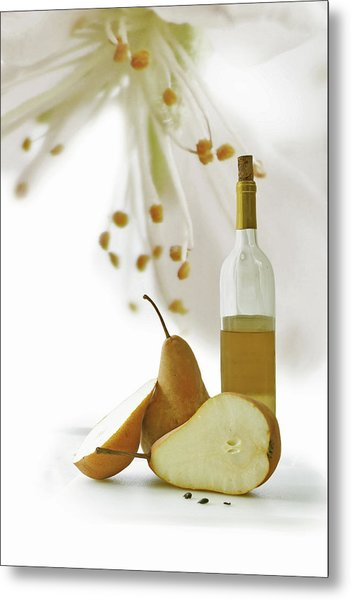 Pears Blossom Metal Print