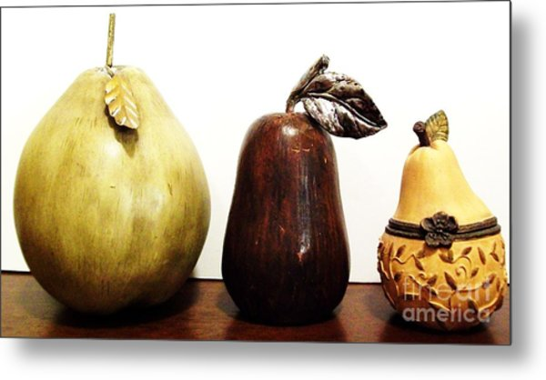 Pears Metal Print by Marsha Heiken
