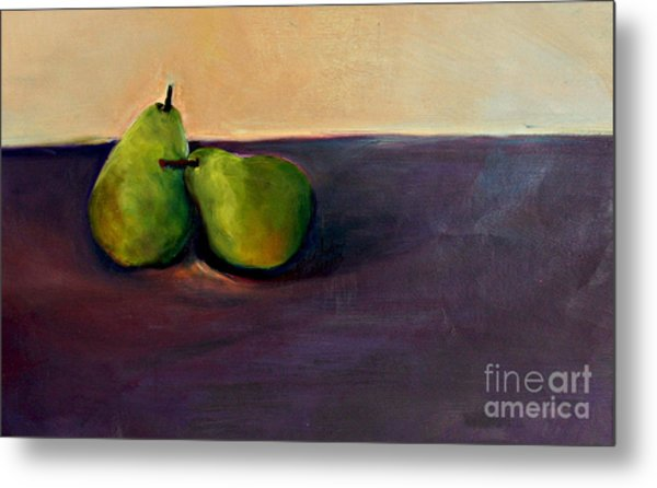 Pears One On One Metal Print