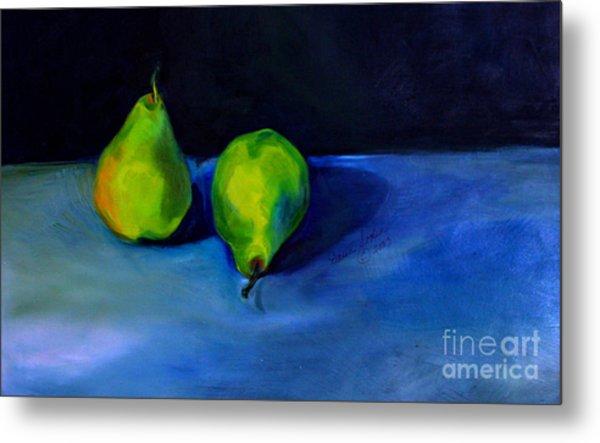 Pears Space Between Metal Print
