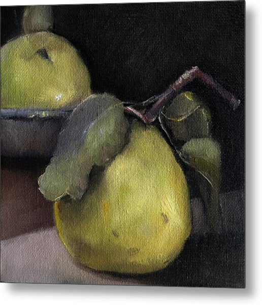 Pears Stilllife Painting Metal Print