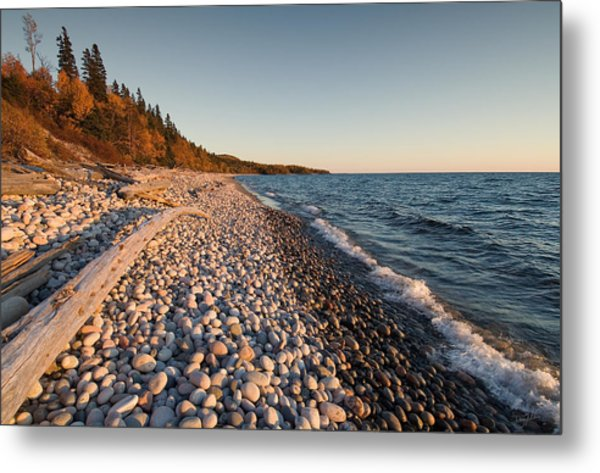 Pebble Beach Autumn    Metal Print