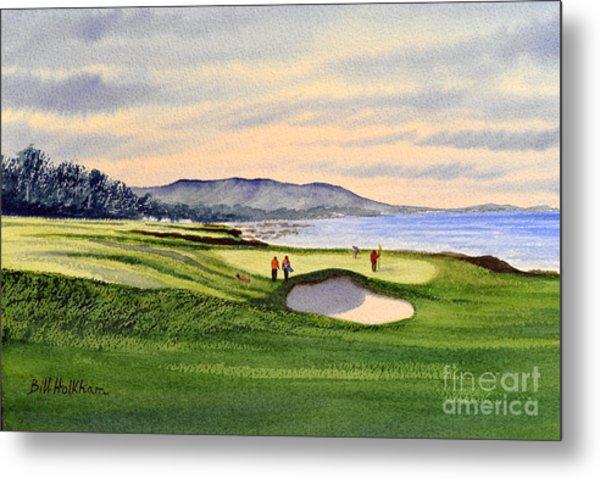 Pebble Beach Golf Course 9th Green Metal Print