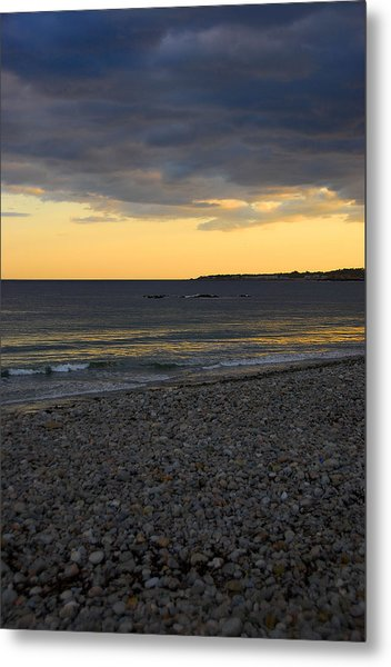 Pebble Beach Sunset Metal Print