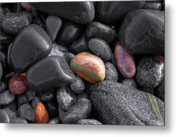 Pebble Jewels   Metal Print