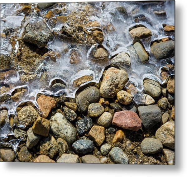 Pebbles And Ice Metal Print