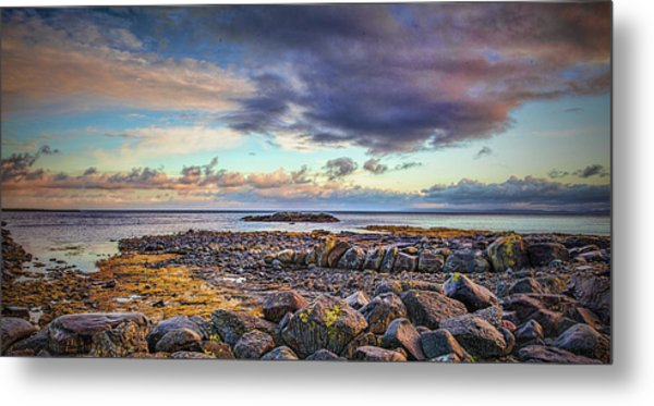 Pebbles And Sky  #h4 Metal Print
