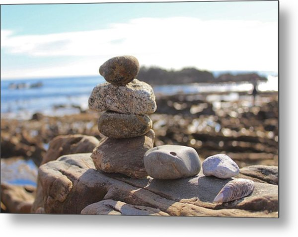 Peceful Zen Rocks Metal Print