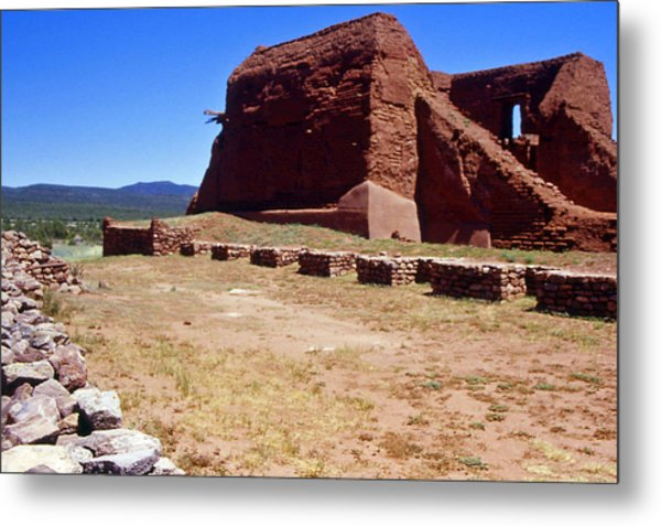 Pecos Mission New Mexico - 2 Metal Print by Randy Muir
